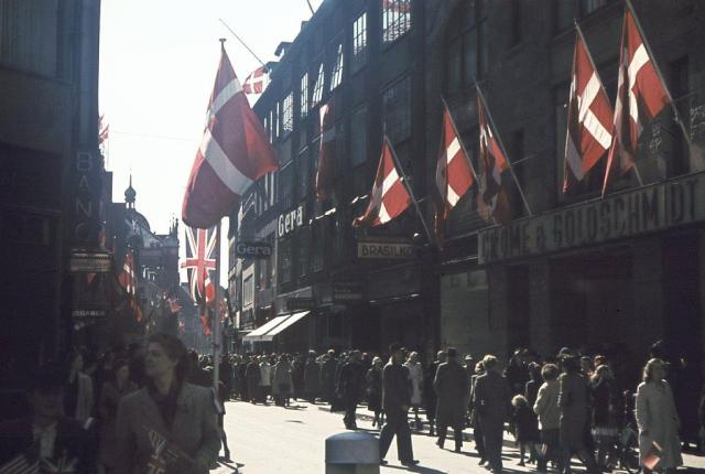 Strøget after liberation